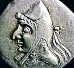 Coin of the Parthian king Orodes II.
