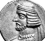 Coin of the Parthian king Sinatruces.