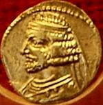 Coin of the Parthian king Orodes III. Römisch-Germanisches Zentralmuseum, Mainz (Germany). Photo Marco Prins.