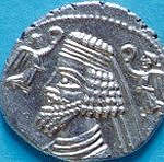 Coin of the Parthian king Phraates III.