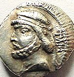 Coin of Mithradates I the Great, founder of the Parthian empire.